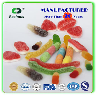 Heart Shape Jelly Candy Sweets Gummy Candy Halal Certification Fruity Flavor
